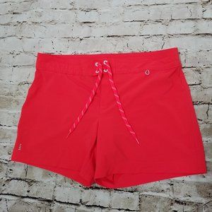 Lands' End 12 Pink Orange Swim Board Shorts Panty